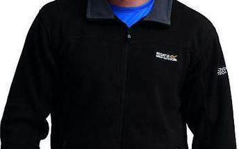 Pánská fleece mikina Regatta RMA148 STANTON II Black/Sealgr