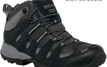 Pánské vysoké boty Regatta RMF340 GARSDALE MID Black/Granit