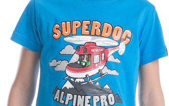 ALPINE PRO Chlapecké tričko s potiskem Silvano - modré