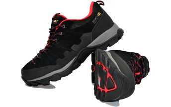 Pánské trekové boty Regatta SBRMF430 LIMITE LOW Black/Red