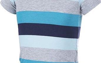 ALPINE PRO Dětské tričko PENSIERO - pruhované modré