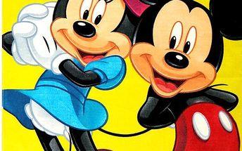 Jerry Fabrics dětská osuška MICKEY A MINNIE 2015 75x150 cm