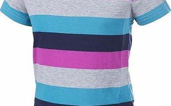ALPINE PRO Dětské tričko PENSIERO - pruhované fialové