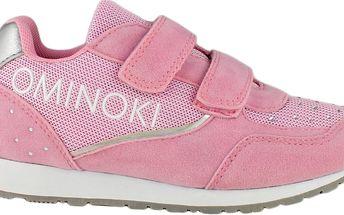 Ominoki Dívčí tenisky s kamínky - růžové
