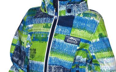Bugga Chlapecká funkční voděodolná softshellová bunda- modrozelené