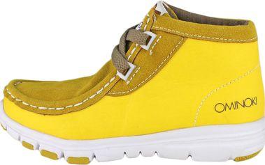 Ominoki Dětské kotníkové boty - žluté