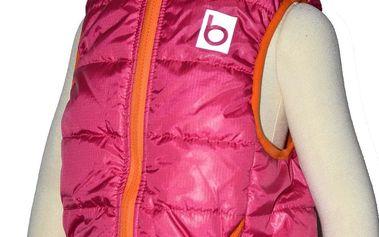 Bugga Dívčí vesta s odepínací kapucí - růžová