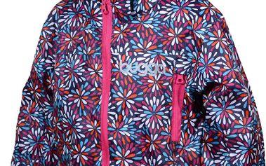 Bugga Dívčí outdoorová nepromokavá bunda s podšívkou - růžová