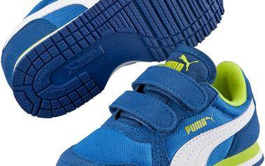 Puma Chlapecké tenisky Cabana Racer Mesh - modro-bílé