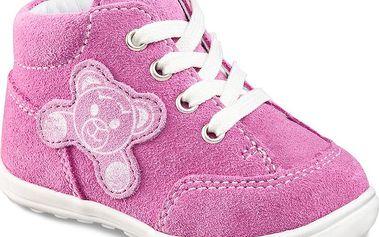 Richter Dívčí kotníčkové boty s medvídkem 227 313 701 - růžové