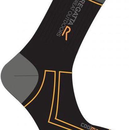 Pánské trekové ponožky Regatta RMH034 2Season TrekTrail černá
