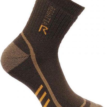 Pánské funkční ponožky Regatta RMH032 3Season TrekTrail hnědé