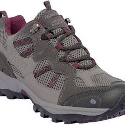 Dámská trekkingová obuv Regatta RWF243 CROSSLAND LOW Lunar Grey / Blackcurrent