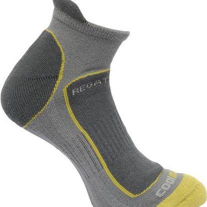 Pánské funkční ponožky Regatta RMH030 trail runner šedé