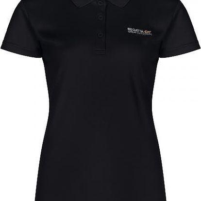 Dámské funkční POLO tričko Regatta RWT115 MAVERIK III Black