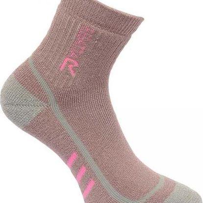 Dámské funkční ponožky Regatta RWH032 3Season TrekTrail růžová