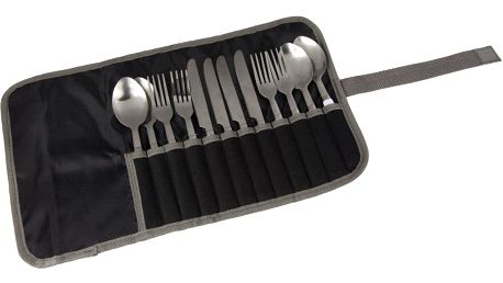 Regatta 4 Person Cutlery Set Black/Sealgr