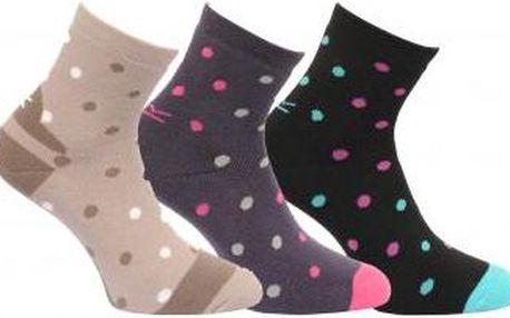 Dámské ponožky Regatta RWH036 W Active LS hnědá/šedá/černá