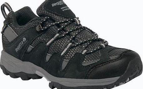 Dětské boty Regatta RKF330 GARSDALE LOW Jnr Black/Granit