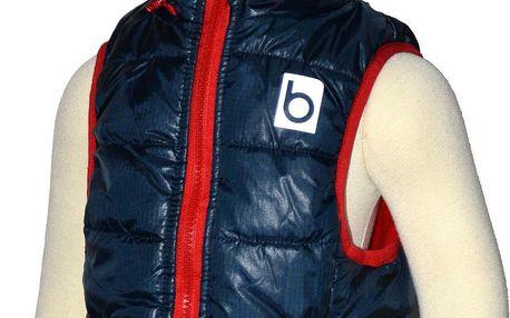 Bugga Chlapecká vesta s odepínací kapucí - modrá