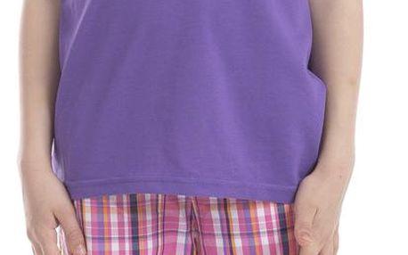 ALPINE PRO Dívčí funkční tričko s potiskem Consalvo - fialové