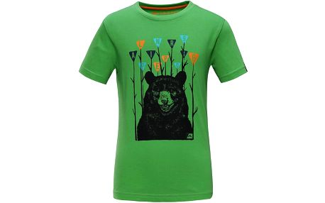 ALPINE PRO Chlapecké tričko SILVANO 3 - zelené