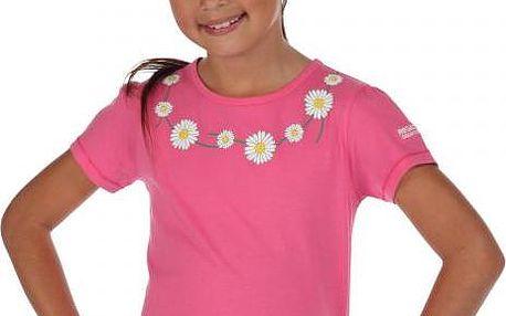Dětské juniorské triko Regatta RKT059 BOBBLES Pretty pink