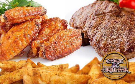 Kilový gril mix se třemi druhy masa a hranolky v Gyros & Grill Baru ve Frýdku-Místku