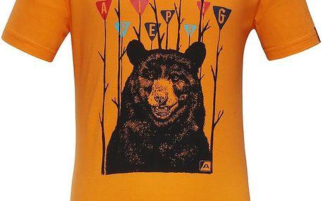 ALPINE PRO Chlapecké tričko SILVANO 3- žluté