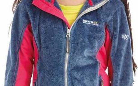 Dětská fleece mikina Regatta RKA150 CUDDLY SlateBlu/Jem