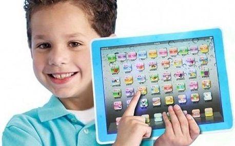 3D dětský tablet pro hravou výuku angličtiny v růžové i modré barvě