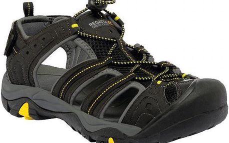 Pánské sandály Regatta RMF495 BACKSHORE Blk/BriYello