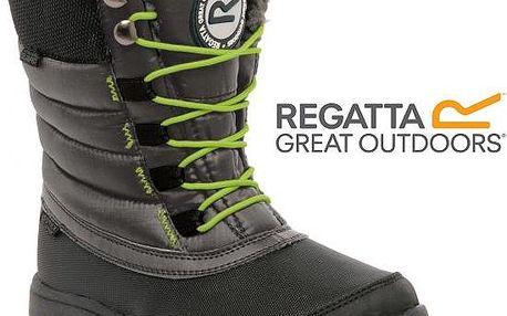 Dětská zimní obuv Regatta RKF434 ELVINA Jr Blk/LimeGrn