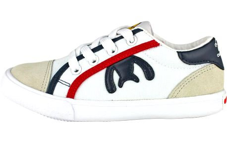 Ominoki Dětské tenisky s kontrastními prvky - bílé