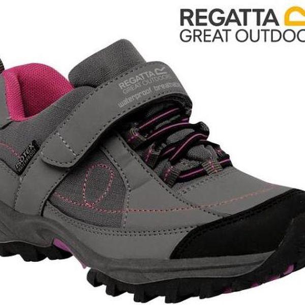 Dívčí obuv Regatta RKF392 TRAILSPACE LOW Jr Granite/Viola