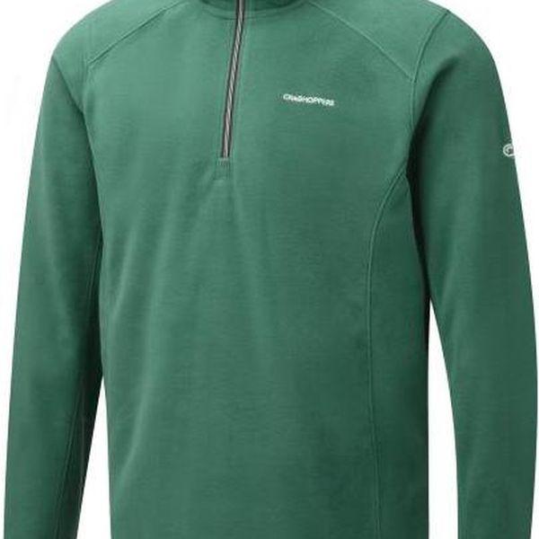 Pánská fleece mikina Craghoppers CMA1134 Corey III H/Zip Alpine green