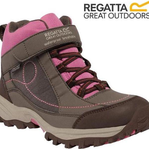 Dívčí kotníková obuv Regatta RKF402 TRAILSPACE MID Jr Coconut/Red