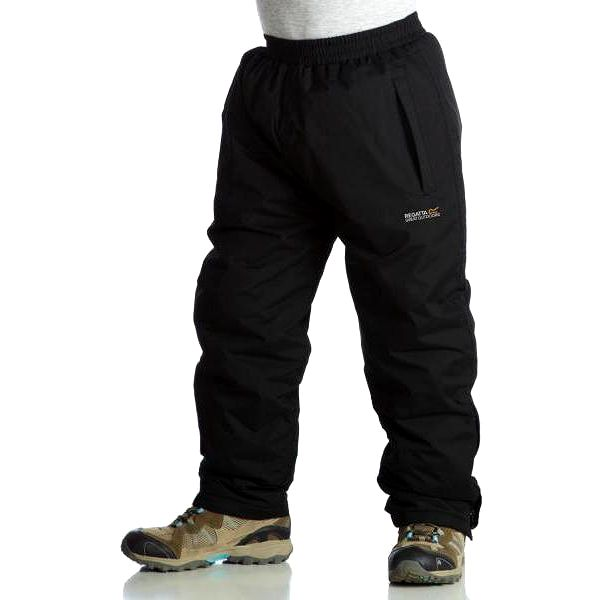 Dětské zateplené kalhoty Regatta RKP062 PAD CHANDLER Black