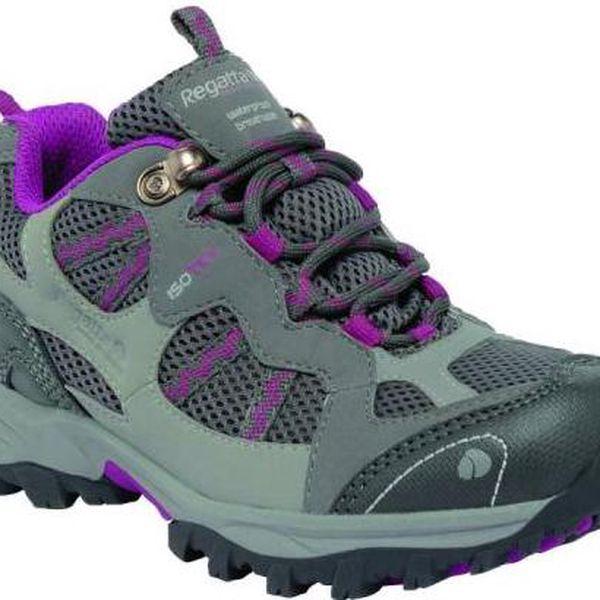 Dětská turistická obuv REGATTA RKF243 CROSSLAND LOW Steel/VivVio