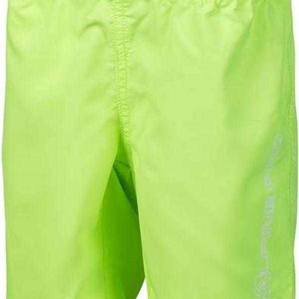 ALPINE PRO Dětské šortky Jonathalo 2 - reflexní žluté