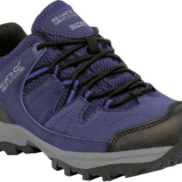 Dětská turistická obuv Regatta RKF449 HOLCOMBE Low Jnr Abyss/Clemat