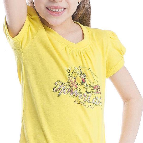 ALPINE PRO Dívčí tričko Silva 2 - žluté