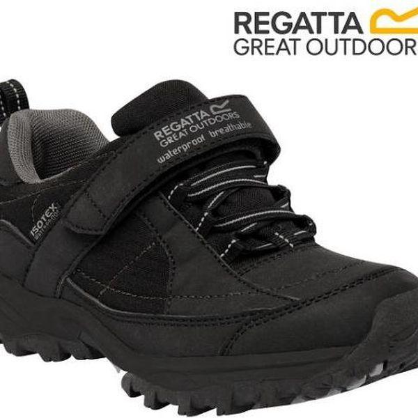 Chlapecká obuv Regatta RKF366 TRAILSPACE LOW Jr Black/Pigeon