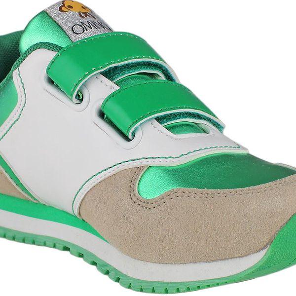 Ominoki Zeleno - bílé tenisky