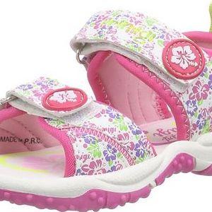 Primigi Dívčí květované sandály - růžovo-bílé