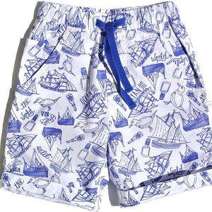 Gelati Chlapecké bermudy Perfect sunday - modro-bílé