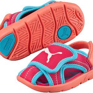 Puma Dívčí sandály Summer Sandal - růžové