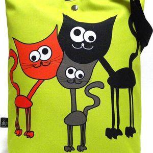 Taška s kočkou Gaul 16 42x32 cm, Gaul designs