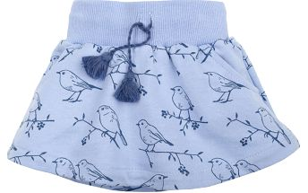 Pinokio Dívčí sukně s ptáčky, modrá