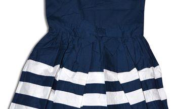 Minoti Dívčí šaty CORAL 4- bílo-modré